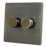 Screwless Antique Bronze Dimmer Switches
